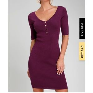 Lulu's Trend and Snap Ribbed Bodycon Sweater Dress